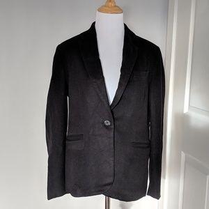 Bloomingdale's black cashmere blazer size 4 petite